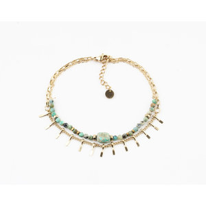 "Bracelet ""Juntura"" turquoise / gold"