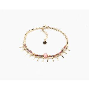 "Armband ""Juntura"" pink / gold"