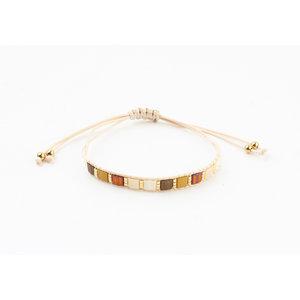 "Armband ""Galena"" bruin"