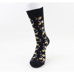 """Heren sokken """"Clark"""" geel/zwart"""