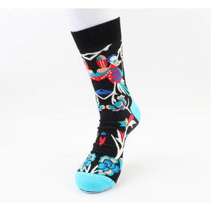 """Heren sokken """"Flint"""" blauw/zwart"""