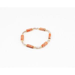 """Armband """"Vina"""" oranje"""