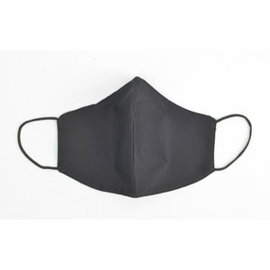 "Face mask ""Uni H"" black, per 5pcs"