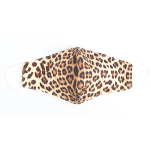 "Face mask ""Leopard"" brown, per 5pcs"