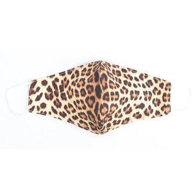 """Face mask """"Leopard"""" brown, per 5pcs"""
