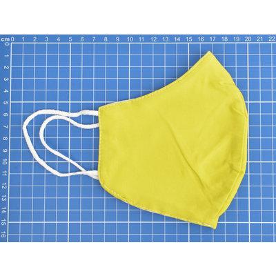 """Face mask """"Uni H"""" yellow, per 5pcs"""