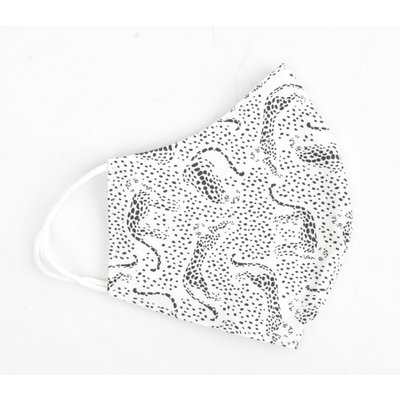 """Face mask """"Cheetah"""" white, per 5pcs"""