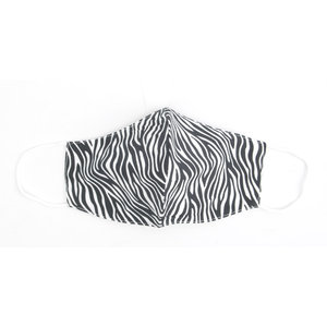 "Face mask ""Zebra"" black/white, per 5pcs"