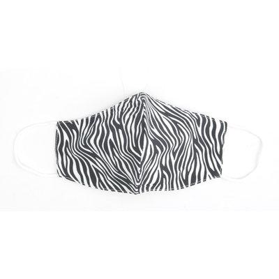 """Mondkapje """"Zebra"""" zwart/wit, per 5st."""
