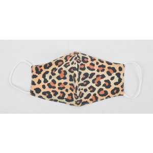 "Face mask ""Leopard"" brown, per 5 pcs."