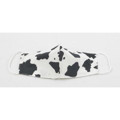 "Mondkapje ""Cow"" zwart/wit, per 5st."