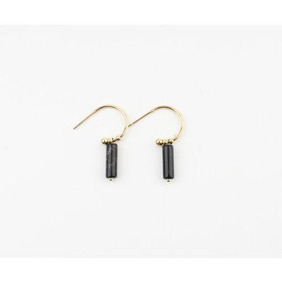 "Earring ""Calypso"" gold / black"