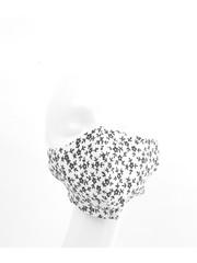 "Face mask ""Flower"" white, per 5pcs"