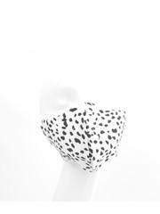 """Face mask """"Dalmatian"""" black / white, per 5 pcs."""