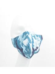 "Face mask ""Camouflage"" blue, per 5pcs."