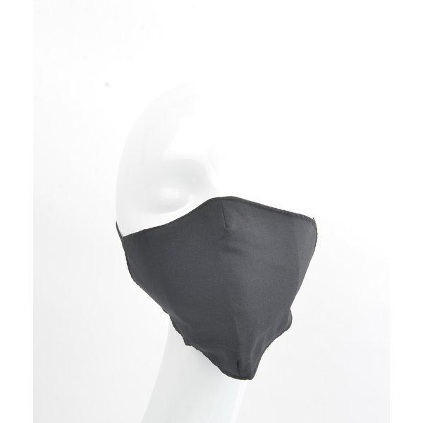 """Face mask """"Uni 3D-2"""" black, per 5 pcs."""