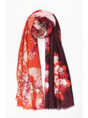 "Scarf ""African Opal"" zinfandel red"