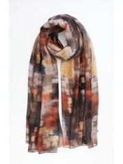 "Scarf ""Dyed Stripe"" brown"