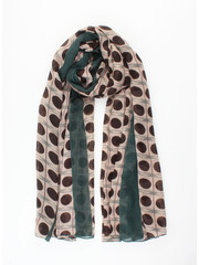 "Scarf ""Artisticl"" brown / petrol"