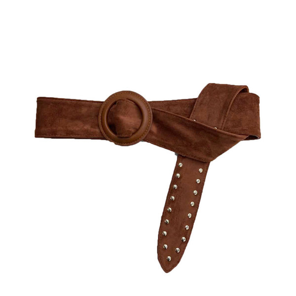 "Belt ""Studs"" brown"