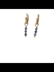 """Earring """"Zeta"""" blue/gold"""
