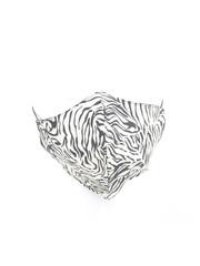 """Mundmaske """"Zebra-2"""" weiß / schwarz, pro 5 Stück"""