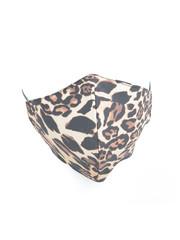 "Mondkapje ""Wild Leopard"" bruin, per 5st."