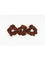 """Scrunchie """"Dalmatian"""" caramel, per 3 pcs."""