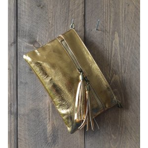"Clutch ""Metallic"" goud"