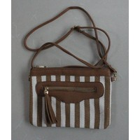 "Clutch ""Strips"" brown"
