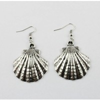 Earring - Shell - Silver/RVS (335548)