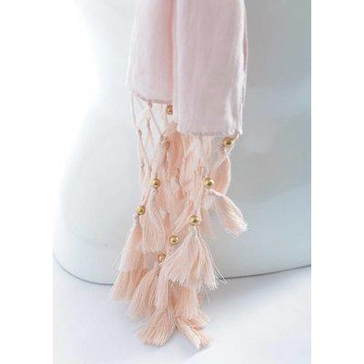 Schal   Plain   Pink