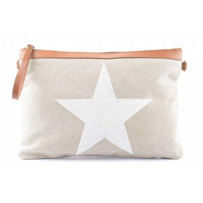 "Clutch ""Star""beige"