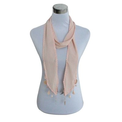 Scarf   Shell   Feather   Pink