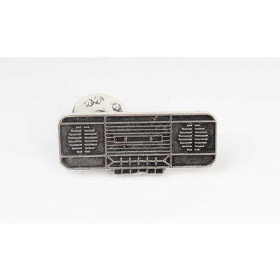 Pin vintage radio, per 3st. NETTO (382616)