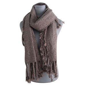 Sjaal vierkant taupe