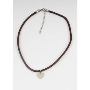 Choker heart stainless steel