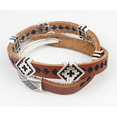 Rove Rove Armband leder bruin (153270)