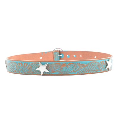 """Rove Belt with star, """"August"""" turquoise"""