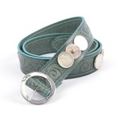 "Rove Belt with coin, ""Augustin"" d.green"