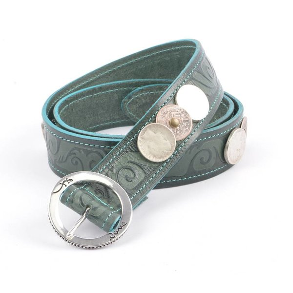 """Rove Belt with coin, """"Augustin"""" d.green"""