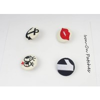 Fashion buttons div., set van 4