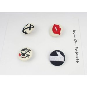Fashion buttons, set von 4