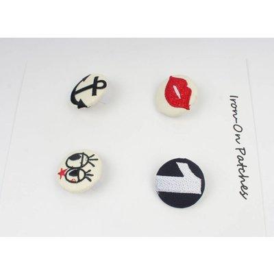 Fashion buttons, set von 4 (382641)