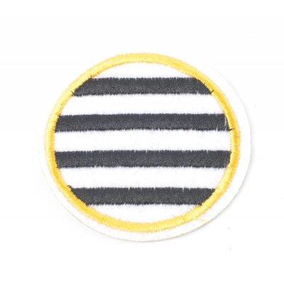 Patch zebra rond, per 3st. (382657)