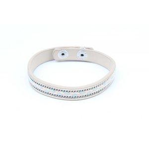 Armband inleg vlecht & ketting grijs