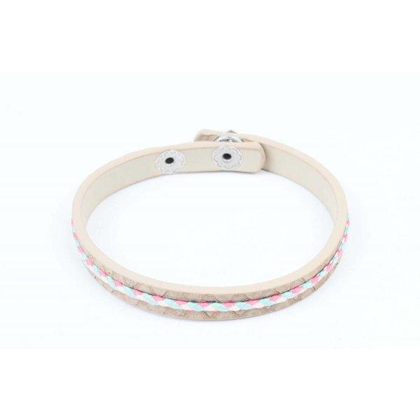 Armband vlecht bruin (327820)