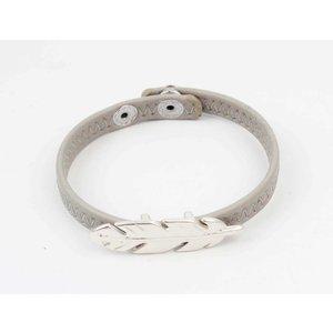 Armband veer grijs