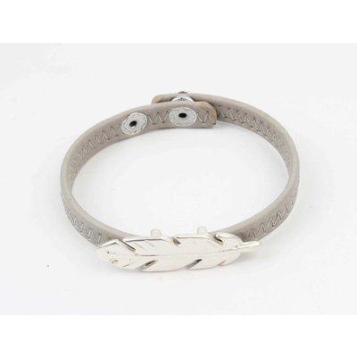 Armband veer grijs (327824)