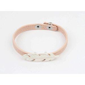 Armband veer roze
